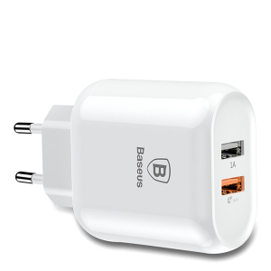 Зарядное устройство Baseus Bojure Series Dual-USB quick charge charger for EU 18W