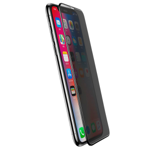 Стекло антишпион Baseus 0.3мм для iPhone XR Чёрное