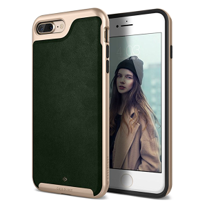 Чехол Caseology Envoy для iPhone 7/8 Plus  Leather Green