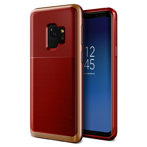 Чехол противоударный VRS Design High Pro Shield для Galaxy S9 Red Blush Gold