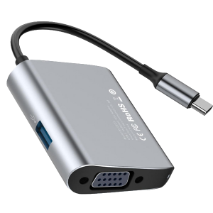Хаб Baseus Enjoyment Type-C (VGA, USB 3.0) HUB