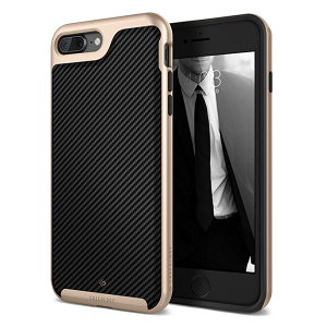 Чехол Caseology Envoy для iPhone 7/8 Plus Carbon Fiber Gold