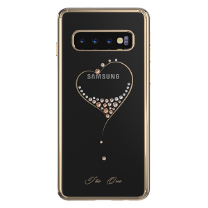 Чехол с Swarovski Kingxbar Wish Series для Galaxy S10 Gold