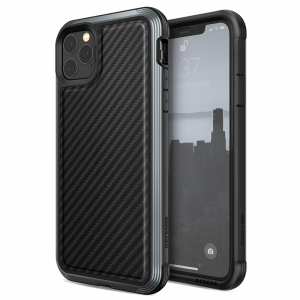Чехол X-Doria Defense Lux для iPhone 11 Pro Max Чёрный карбон