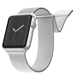 Ремешок X-Doria New Mesh для Apple Watch 42/44 мм Серебро